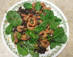 shrimp & black bean salsa